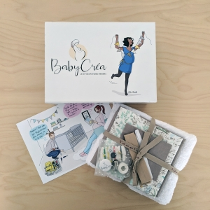 BabyCréa box d'avril avec la carte et le packing