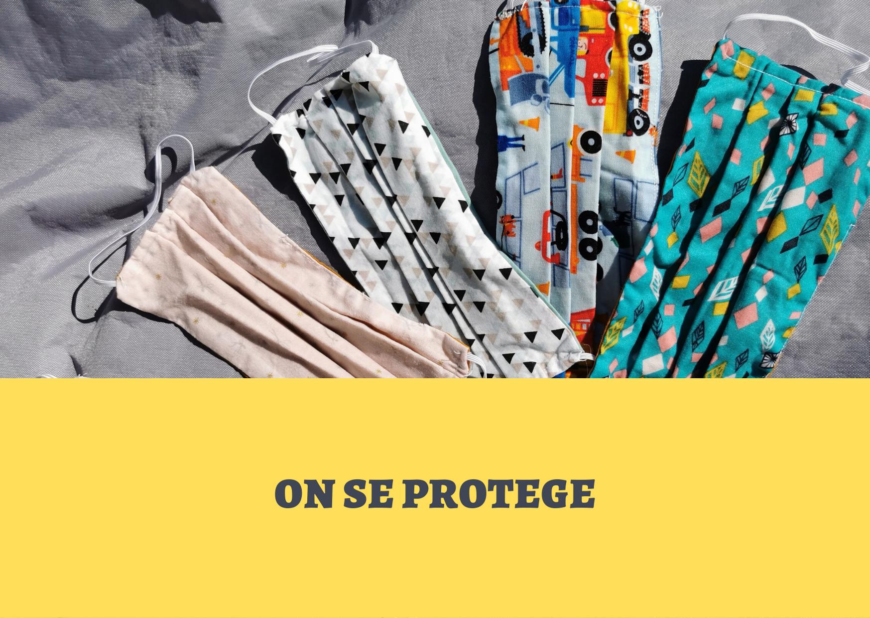 Kit masque de protection en tissu